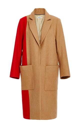 Medium whit multi rothko merino wool coat