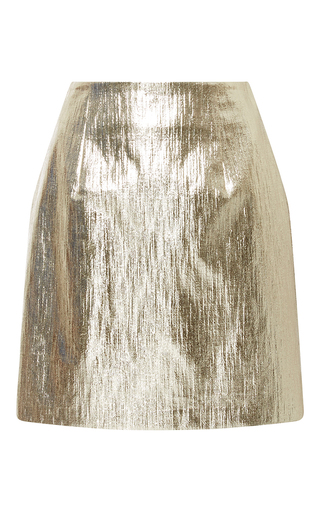 Medium whit metallic tate metallic tweed mini skirt