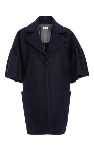 Medium whit navy lou cashmere wool coat
