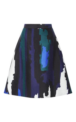 Medium whit multi parker jagged striped skirt
