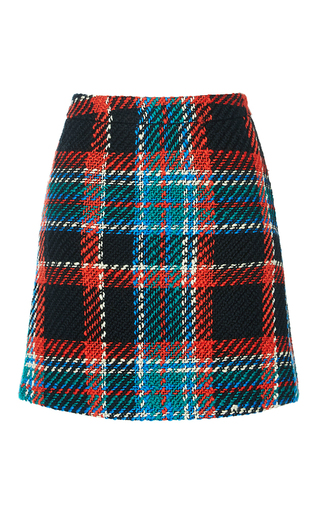 Medium manoush plaid plaid tweed skirt