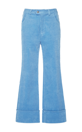 Medium manoush blue bleu gris velvet corduroy trouser
