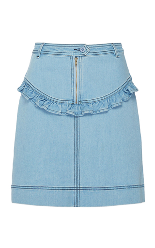 Medium manoush medium wash washed denim skirt