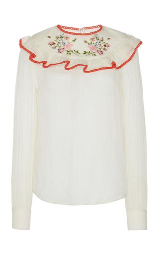 Medium manoush white romance floral blouse