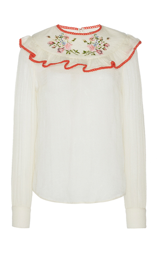Medium manoush white romance floral blouse