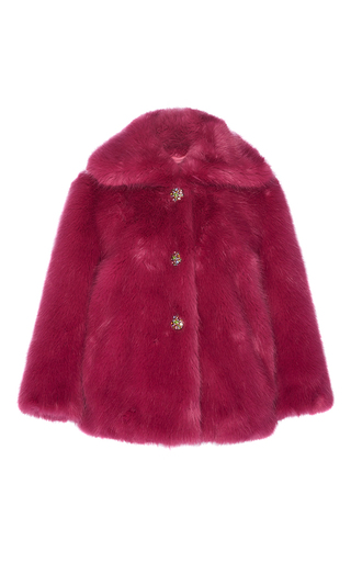 Medium manoush purple jewel faux fur coat
