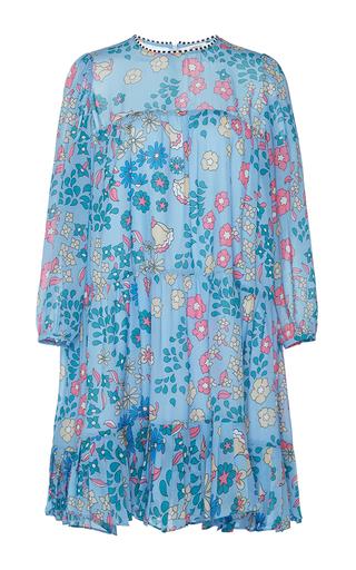 Medium manoush blue rain flower tiered dress