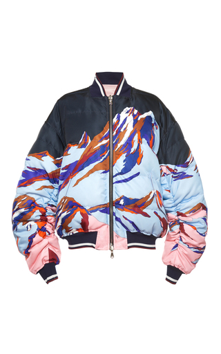Medium emilio pucci print reversible ruched down jacket