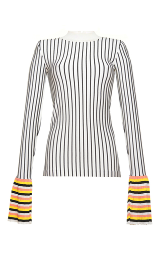 Medium emilio pucci stripe pinstripe flared cuff top