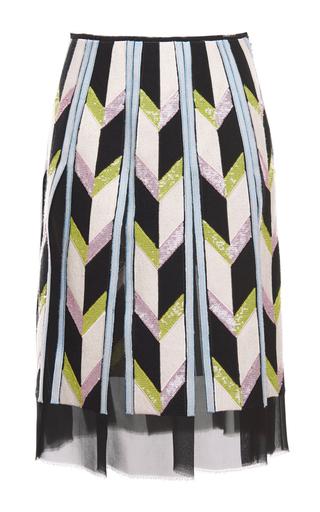 Medium emilio pucci multi sequin embellished chevron paneled skirt