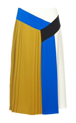 Medium emilio pucci multi colorblocked pleated skirt