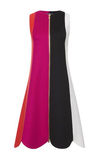 Medium salvatore ferragamo multi sleeveless scalloped dress