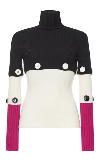 Medium salvatore ferragamo black turtleneck knit top