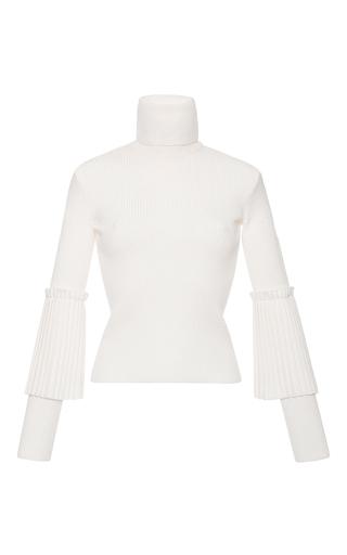 Medium salvatore ferragamo white cropped turtleneck sweater