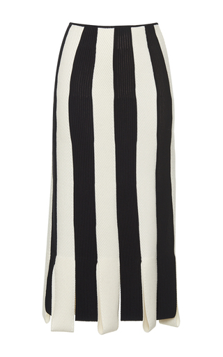 Medium salvatore ferragamo black striped pencil skirt