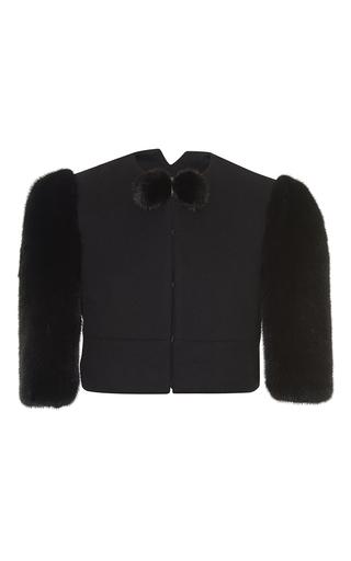 Medium salvatore ferragamo black short sleeve jacket