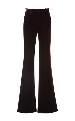 Medium roberto cavalli burgundy flared velvet pants
