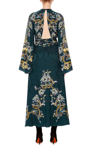Bell Sleeve Cutout Dress by ROBERTO CAVALLI Now Available on Moda Operandi