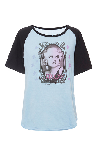 Medium roberto cavalli light blue printed light blue t shirt