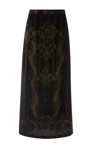 Medium roberto cavalli print metallic a line midi skirt