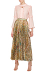 Pleated Midi Skirt by ROBERTO CAVALLI Now Available on Moda Operandi