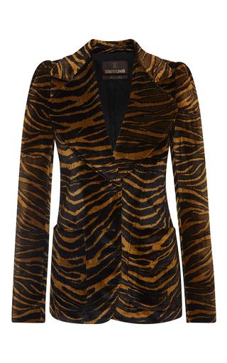 Medium roberto cavalli print tiger velvet blazer