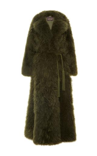 Medium roberto cavalli green oversize fur coat