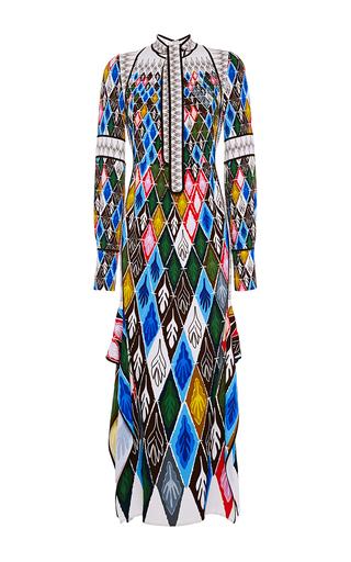 Medium peter pilotto print argyle long sleeve gown