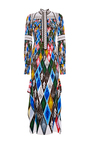 Argyle Long Sleeve Gown by PETER PILOTTO Now Available on Moda Operandi