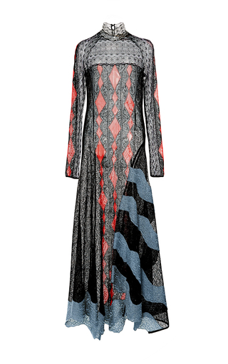 Medium peter pilotto multi lace knit long dress