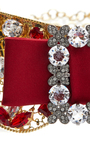 Embellished Gold Collar With Red Bow by DOLCE & GABBANA Now Available on Moda Operandi
