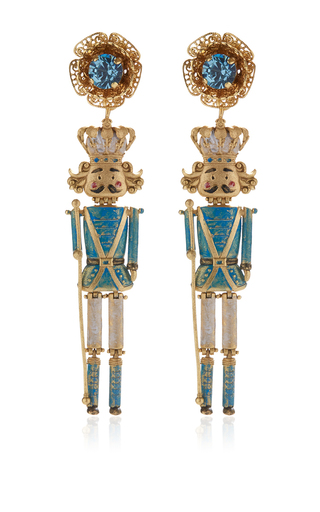 Medium dolce gabbana gold prince charming chandelier earrings