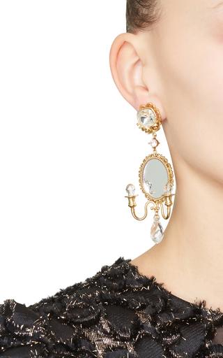 Mirror On The Wall Chandelier Earrings by DOLCE & GABBANA Now Available on Moda Operandi
