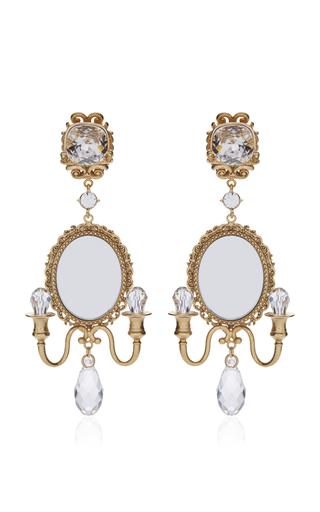 Medium dolce gabbana gold mirror on the wall chandelier earrings