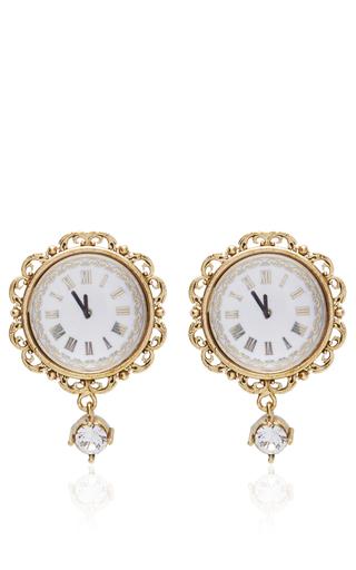 Medium dolce gabbana gold clock strikes midnight chandelier earrings