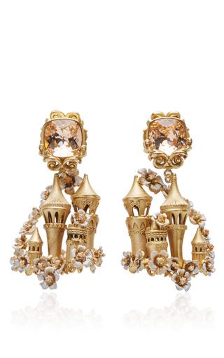 Medium dolce gabbana gold enchanted castle chandelier earrings