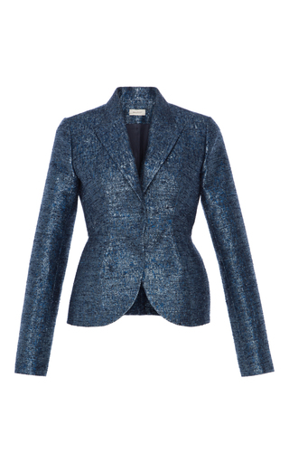 Medium delpozo blue peak lapel blazer