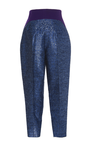 Side Pleated Trousers by DELPOZO Now Available on Moda Operandi