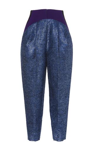 Medium delpozo blue side pleated trousers 3