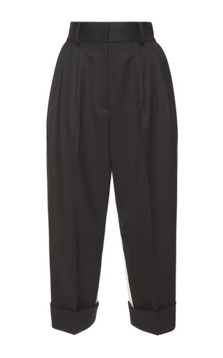 Medium dolce gabbana black pleated cropped pant