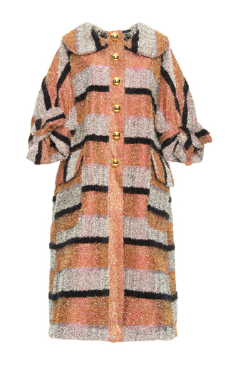 Medium dolce gabbana multi striped lurex oversize coat