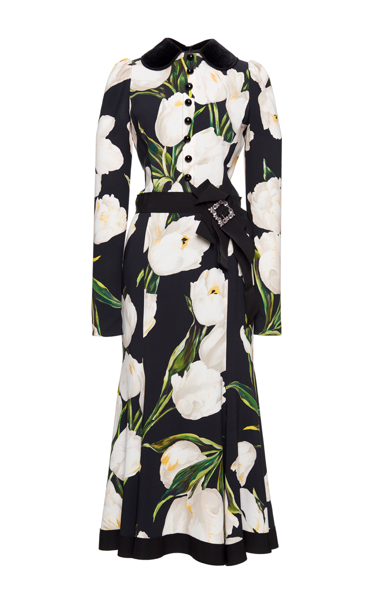 e72c9bf7 Belted Tulip Print Dress by Dolce & Gabbana   Moda Operandi