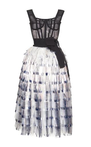 Medium dolce gabbana metallic corseted metallic tinsel dress