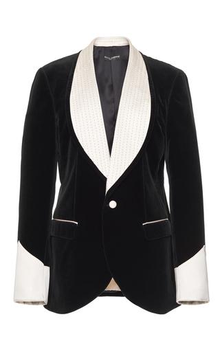 Medium dolce gabbana black velvet smoking jacket