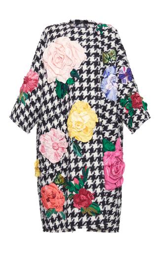 Medium dolce gabbana multi macro houndstooth embroidered oversize coat