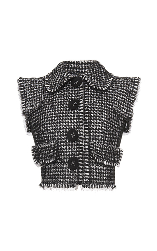 Medium dolce gabbana multi deconstructed tweed vest