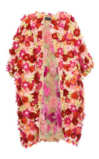 Medium dolce gabbana multi fully embellished organza flower coat