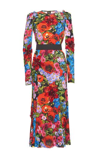 Medium dolce gabbana print embellished floral bouquet print dress