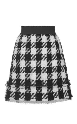 Medium dolce gabbana multi macro houndstooth tweed mini skirt