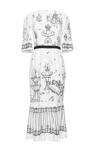 Medium dolce gabbana print garden print stretch cady dress